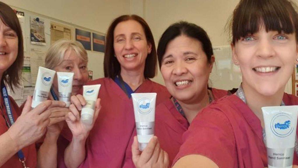 Staff helping NHS